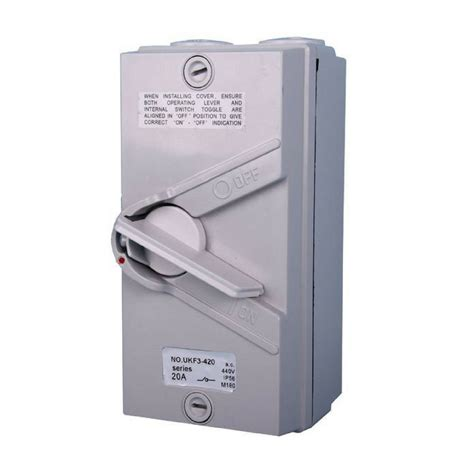Isolator Switch 20a 440v 20a ip66 3 pole waterproof isolator switch ozsupply