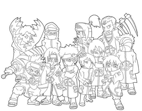 naruto coloring pages akatsuki naruto akatsuki coloring pages for kids and for adults