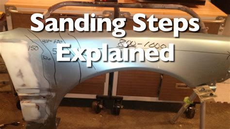 how to body work and paint a car part 1 sanding steps to prep a car for paint and clear youtube