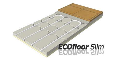 climatizzazione a pavimento climatizzazione a pavimento rossato ecofloor slim