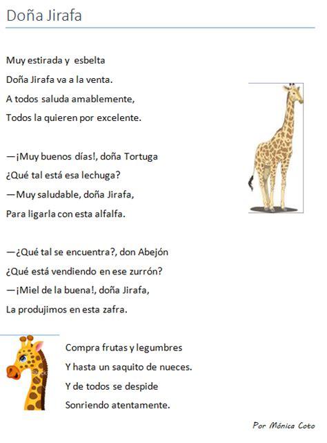 poema para jirafa poema infantil puntuaci 243 n del di 225 logo signos de