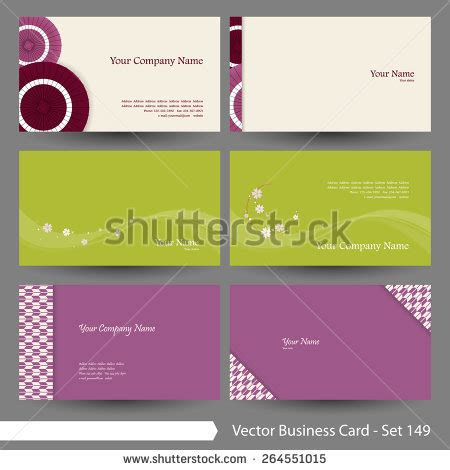 Vector Business Card Template Set Japanese Oriental And Flower Pattern Graphic Design Elements Japanese Business Card Template