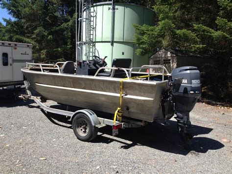 welded aluminum boats for sale used 18 foot daigle welded aluminum boat outside victoria