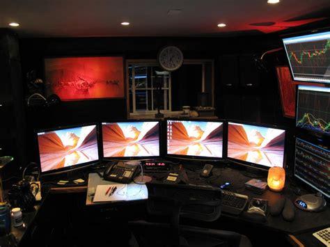 Home Office Setups awesome multi monitor office setup www ryanstevens co uk