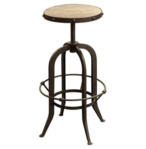 Rustic Industrial Bar Stools | bryan industrial loft retro rustic pine swivel bar counter