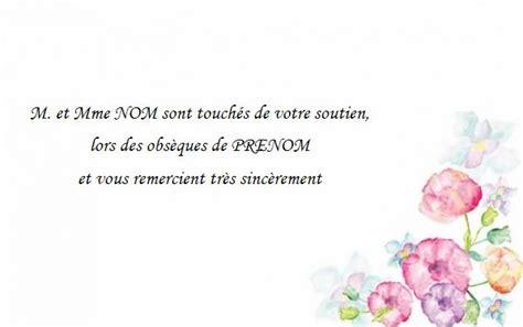 Exemple De Lettre De Remerciement Deces Gratuit Carte De Remerciement D 233 C 232 S Deuil Mod 232 Le 224 Personnaliser Avec Fleurs