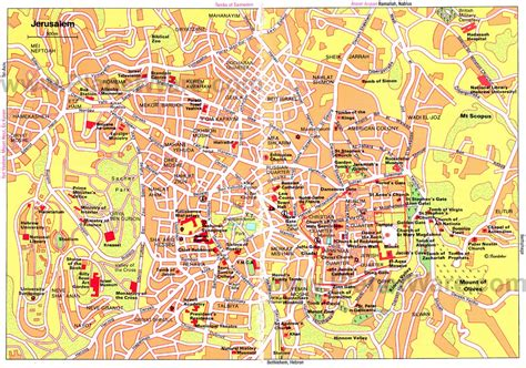 map of israel jerusalem 20 top tourist attractions in jerusalem planetware