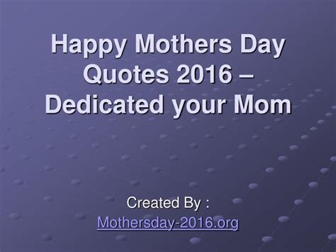 mothers day quotes powerpoint  id