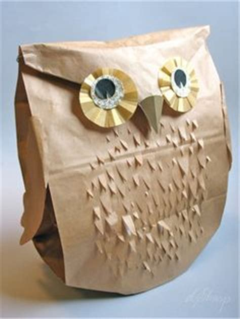 How To Make A Paper Bag Owl - this owl paper bag puppet is just one of many great crafts
