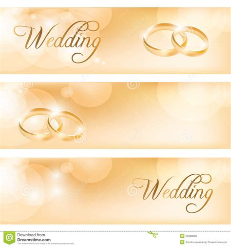 Wedding Banner Price by Wedding Banner With The Wedding Rings Royalty Free Stock