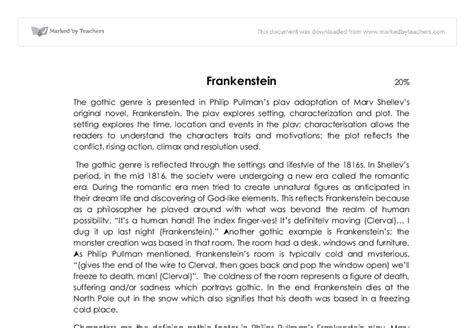 analysis of frankenstein narrative frankenstein analysis essay