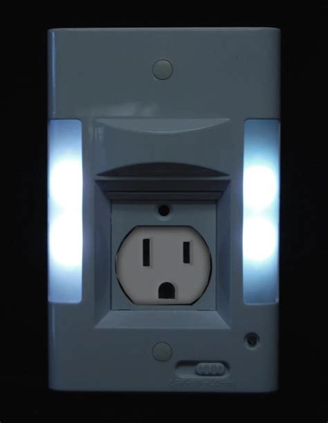 night light wall plate capstone led wall plate night light power failture