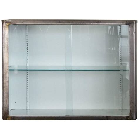 Wall Kitchen Cabinets With Glass Doors Steel And Glass Wall Cabinet At 1stdibs