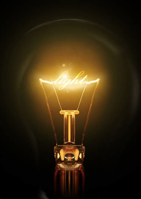how to design light effect in photoshop create a light bulb text effect in photoshop
