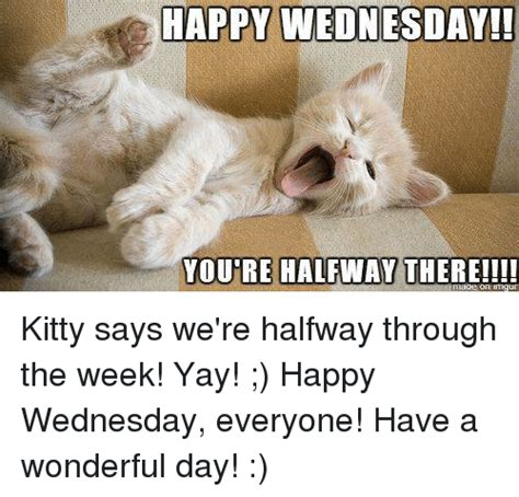 Yay Or Nay Wednesday 22 by Happy Happy Wednesday Youre Halfway There Says