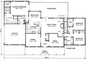Split Ranch Floor Plans by Ranch With Split Bedroom Design 4978k 1st Floor Master