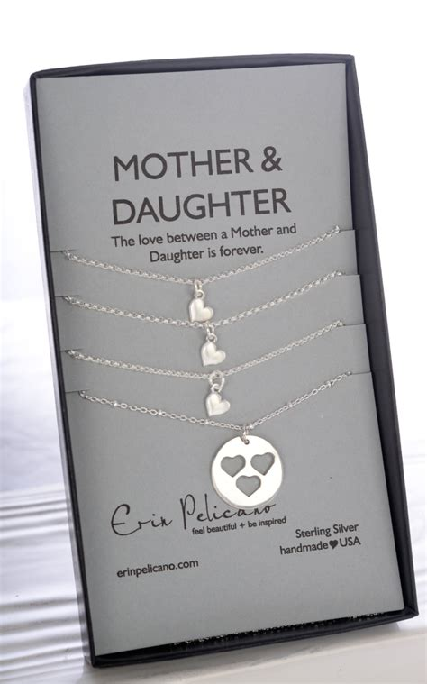 mother gifts mother daughter necklace mom birthday mom daughter jewelry set