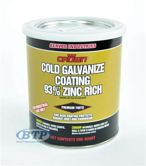 zinc boat paint 1 quart zinc rich cold galvanized paint for boat trailers