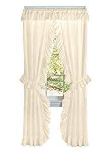 Priscilla Curtains Kitchen Ruffled Priscilla Curtain Set Curtain Set 58 Quot W X 84 Quot L Color Ivory