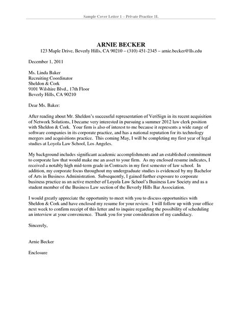New Attorney Cover Letter Cover Letter To Firm Cover Letter For Cover