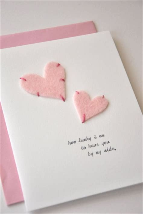 valentines day card ideas adorable valentines day handmade card ideas pink lover