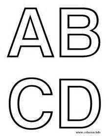 a b c d alphabet printable coloring pages for