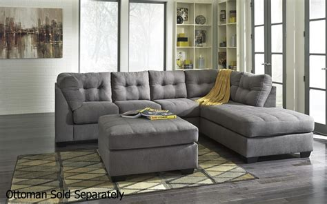 grey sectional couch ashley 4520017 4520066 grey fabric sectional sofa steal