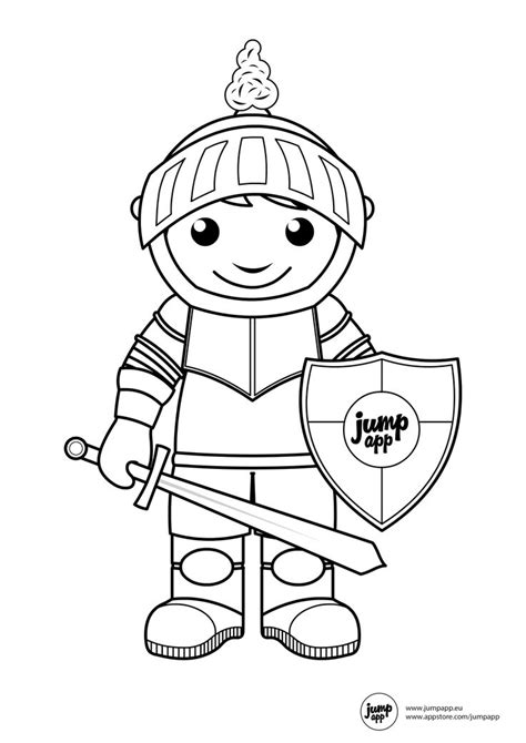 knight printable coloring pages pinterest knight