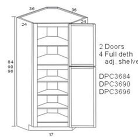 kitchen pantry cabinet dimensions 1000 images about corner pantry cabinets on pinterest