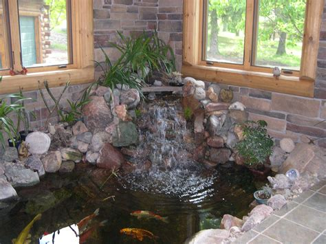 indoor fish pond decoration beautiful luxury small indoor koi pond design