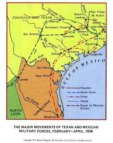 texas revolution map 1836 map of the texas revolution 1835 1836