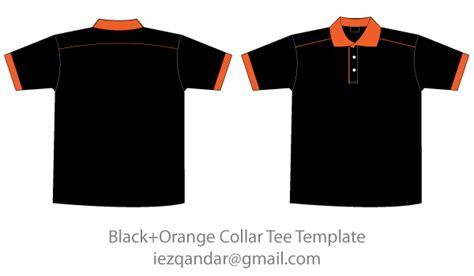 free black orange collar t shirt template free vectors