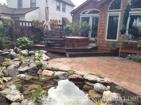 stunning landscape design ideas w fish pond paver