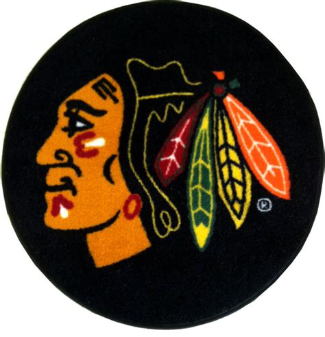 chicago blackhawks rug nhl chicago blackhawks hockey puck shaped accent rug contemporary rugs by obedding