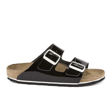 birkenstock patent sandals birkenstock s arizona slim fit patent