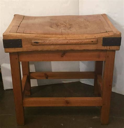 butcher block stand large butcher s block on stand for sale at 1stdibs
