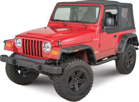 jeep tj fender rugged ridge 11640 30 hurricane fender flares for 97 06
