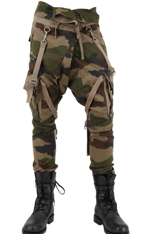 Tbgm Overall Black Army green brown black army camouflage camo cargo harem