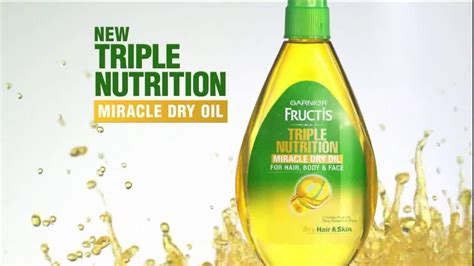 garnier fructis triple nutrition miracle dry oil for hair body garnier fructis triple nutrition miracle dry oil tv