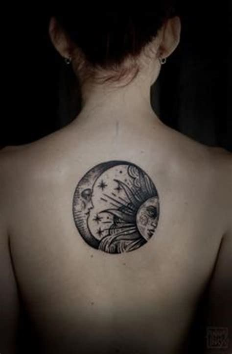 half sun half moon tattoo 77 sun and moon ideas for ink everywhere
