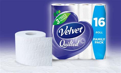 Quilted Velvet Toilet Tissue by Velvet Quilted 3 Ply Toilet Tissue Groupon Goods