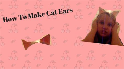 How To Make Cat Ears With Paper - how to make cat ears headband paper 28 images kitten