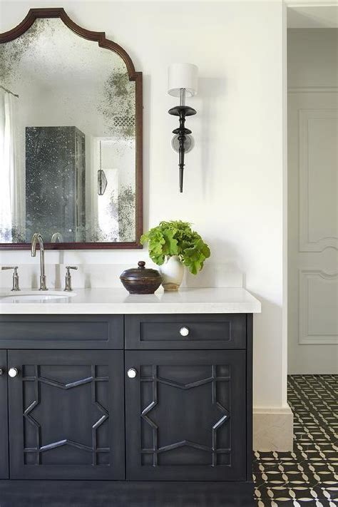 Black Moroccan Star Washstand With Black And White Mosaic Moroccan Bathroom Vanity