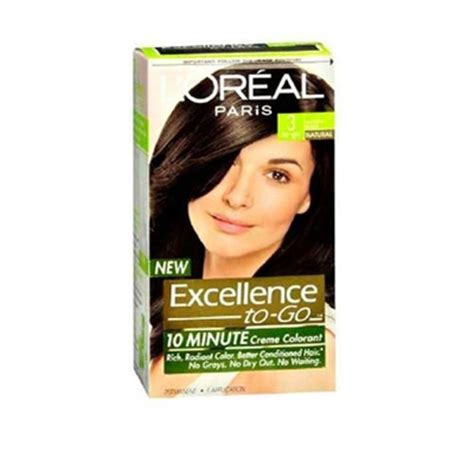 l oreal excellence 10 minute creme colorant 3 black 1 application