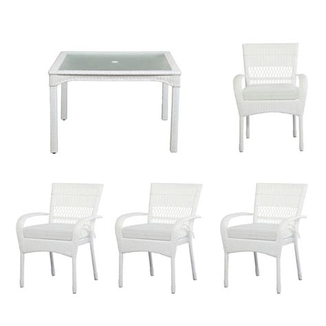 hton bay statesville shell 5 aluminum outdoor dining set fca70357ds st2w the home depot
