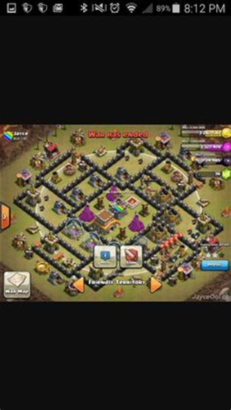 th8 layout coc guide base design town hall level 7 4 defensive on ultimate