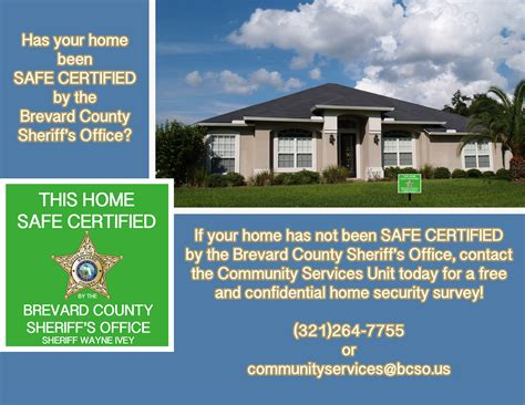 home security survey brevard county sheriff s office