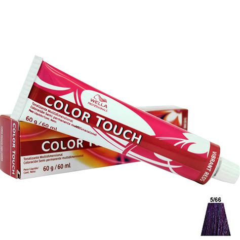 color touch tonalizante wella color touch 5 66 castanho claro violeta