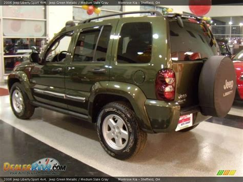 2006 green jeep liberty 2006 jeep liberty sport 4x4 jeep green metallic medium