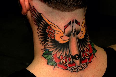 tattoo old school wing 59 wonderful wings neck tattoos